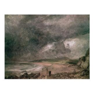 Bahía de Weymouth con la tormenta inminente Postales