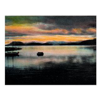 Bahía de Wrangell postal del vintage de Alaska