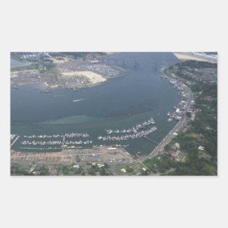Bahía de Yaquina Pegatina Rectangular
