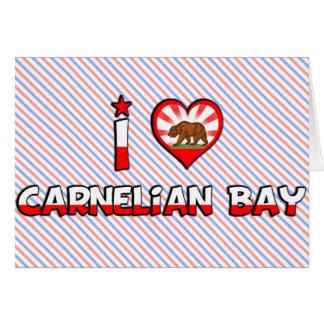 Bahía del Carnelian, CA Tarjeta De Felicitación