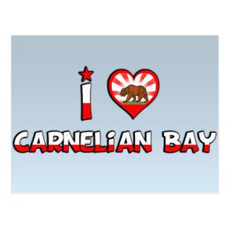 Bahía del Carnelian, CA Tarjetas Postales