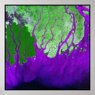 Bahía del delta del Ganges de Bengala Póster