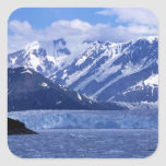 Bahía del desencanto y glaciar de Hubbard, Pegatina Cuadrada