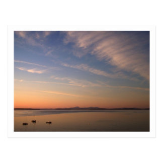 Bahía del francés en la oscuridad tarjeta postal