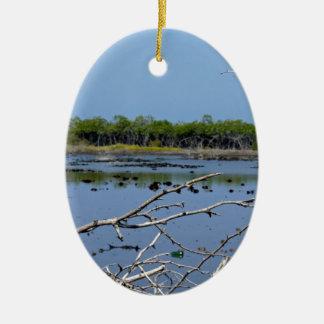 bahía del mangle ornamento para arbol de navidad