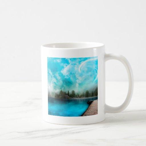 Bahía del misterio del agua taza
