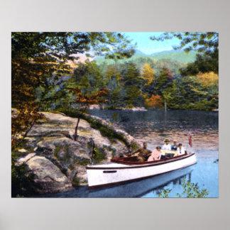 Bahía del paraíso de George Nueva York del lago Poster