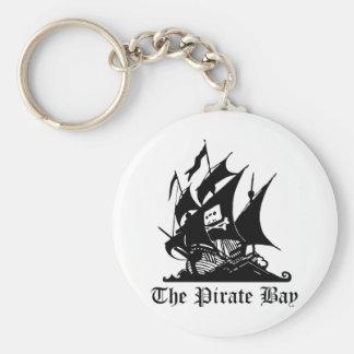 Bahía del pirata piratería del Internet Llaveros Personalizados