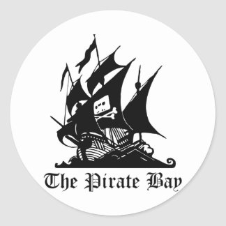 Bahía del pirata, piratería ilegal del Internet Pegatina Redonda