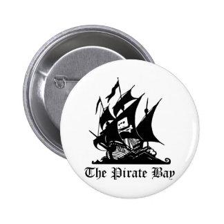 Bahía del pirata, piratería ilegal del Internet Pin Redondo De 2 Pulgadas