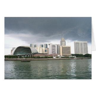 Bahía del puerto deportivo de Singapur Tarjeta De Felicitación