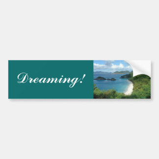 ¡Bahía del tronco, soñando! Pegatina De Parachoque
