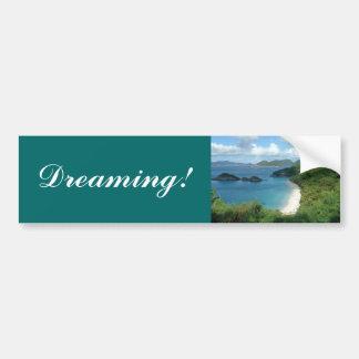 ¡Bahía del tronco, soñando! Pegatina Para Auto