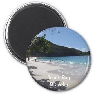 Bahía del tronco, St. John Imán Redondo 5 Cm