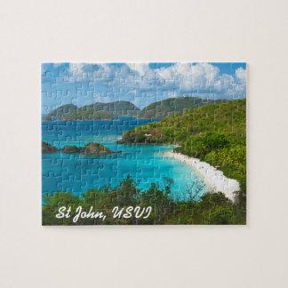 Bahía del tronco, St John USVI Rompecabeza