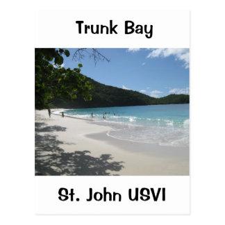 Bahía del tronco, St. John USVI Postal