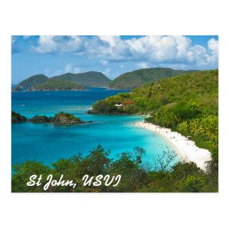 Bahía del tronco St John USVI Tarjetas Postales