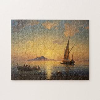 Bahía del waterscape del paisaje marino de Nápoles Rompecabeza Con Fotos