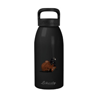 Bahía dibujada Digital o balanceo del caballo de Botella De Agua