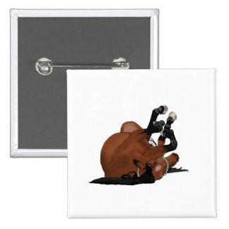 Bahía dibujada Digital o balanceo del caballo de Pin Cuadrada 5 Cm
