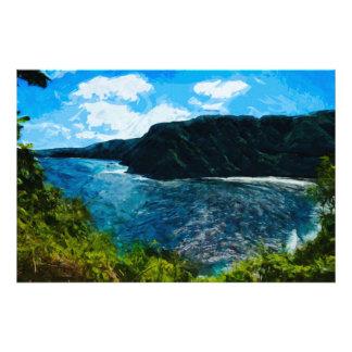 Bahía en el camino al extracto de Hana Maui Hawaii Fotografía