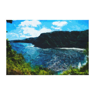 Bahía en el camino al extracto de Hana Maui Hawaii Impresión En Lienzo