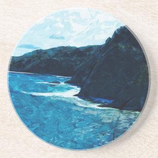 Bahía en el camino al extracto de Hana Maui Posavasos Manualidades