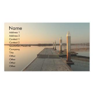 Bahía en la tarjeta de visita del amanecer 2