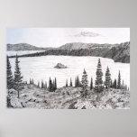 Bahía esmeralda con la isla de Fannette, el lago T Poster