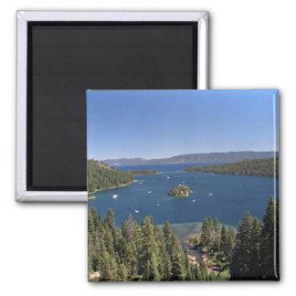 Bahía esmeralda, el lago Tahoe, California, los Imán Cuadrado
