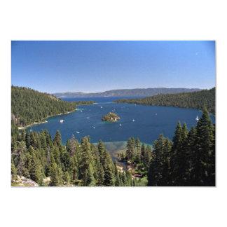 """Bahía esmeralda, el lago Tahoe, California, los Invitación 5"""" X 7"""""""