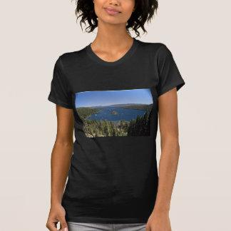 Bahía esmeralda, el lago Tahoe, California, los Camisetas