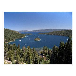 Bahía esmeralda, el lago Tahoe, California, los Tarjetas Postales