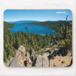 Bahía esmeralda, el lago Tahoe Mousepad Alfombrilla De Raton