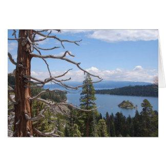 Bahía esmeralda, el lago Tahoe Tarjeta Pequeña