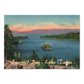 Bahía esmeralda - invitación del fiesta del lago