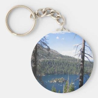 Bahía esmeralda llavero redondo tipo pin