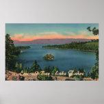 Bahía esmeralda - poster del lago Tahoe