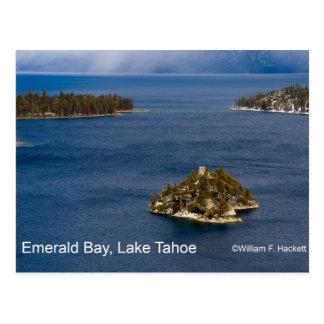 Bahía esmeralda, productos del lago Tahoe Californ Tarjetas Postales