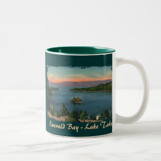 Bahía esmeralda - taza de café del lago Tahoe