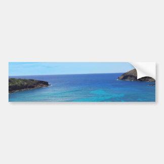 Bahía Hawaii de Hanauma Pegatina De Parachoque