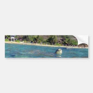 Bahía Hawaii de Hanauma Etiqueta De Parachoque
