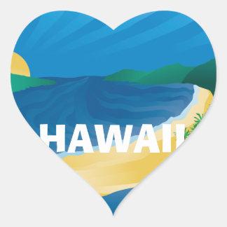 Bahía Hawaii de Hanauma de la hawaiana Pegatina En Forma De Corazón