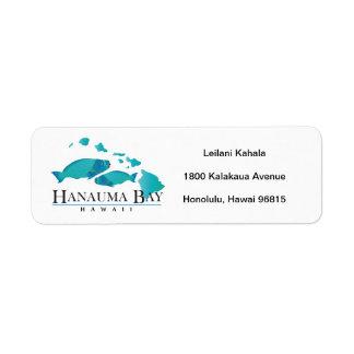Bahía Hawaii de Hanauma Etiqueta De Remite