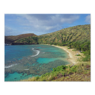 Bahía Hawaii de Hanauma Póster
