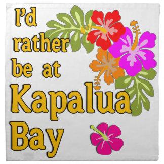 Bahía HAWAII de Kapalua estaría bastante en la bah Servilleta Imprimida
