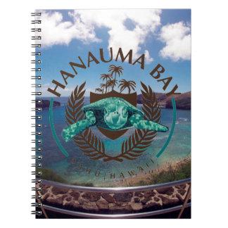 Bahía Hawaii - Honu de Hanauma Libreta Espiral