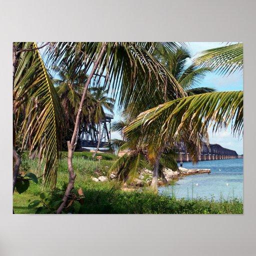 Bahía Honda tiende un puente sobre Póster