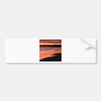 Bahía Marin de los Drakes de la puesta del sol de  Pegatina Para Auto