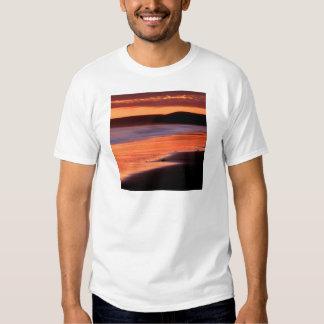 Bahía Marin de los Drakes de la puesta del sol de Poleras
